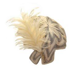 ELSA SCHIAPARELLI Paris,Vanilla Feather Hat 1953