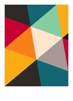 Tilting Triangles | Art Print (Giclee)