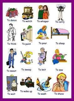 action verbs in english - Pesquisa Google