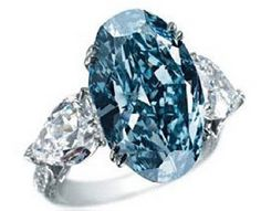 Chopard's Blue Diamond Ring.  At $16.26 million and is the 2nd most expensive ring of the world. Chopard's Blue Diamond is an oval shaped massive blur diamond mounted on top of a white gold ring with a support of glowing small white diamonds.