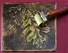 Carolyn Counnas Fine Artartist ...step-by-step with collograph and chine colle