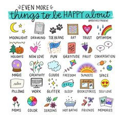 """Dani DiPirro on Instagram: """"Mondays are kinda 🗑 so here are some things to be happy about! What would you add? 🤔 . . . Have you checked out the print shop lately? Each…"""" Bellet Journal, Self Care Bullet Journal, Space Books, Budget Planer, Life Journal, Happy Journal, Nature Journal, Bulletins, Self Care Activities"""