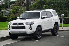 White Toyota 4Runner - storm trooper