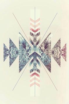 iPhone Wallpaper 5, 6 - Aztec Design
