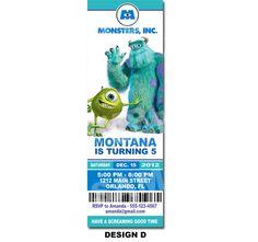 Monsters Inc Invitation Printable  Printable by Uprintparty, $10.00