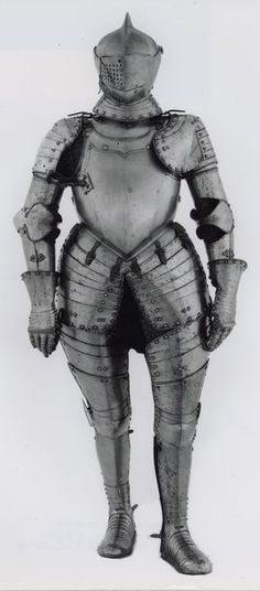German, Augsburg    Three-Quarter Armor, c. 1580    Steel  - Art Institute of Chicago
