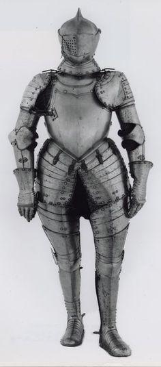 German, Augsburg    Three-Quarter Armor, c. 1580    Steel  - Art Institute of Chicago