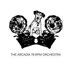 Logo for The Arcadia 78rpm Orchestra.  #cornwall #dj #vintage #wedding  #gramophone #78record #78records #retro #vintagejazz #cornwall #dj #vintage #wedding #weddings #coolwedding #coolweddingdj