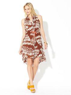 Corey Lynn Calter Silk Tropic Nature Verity Dress