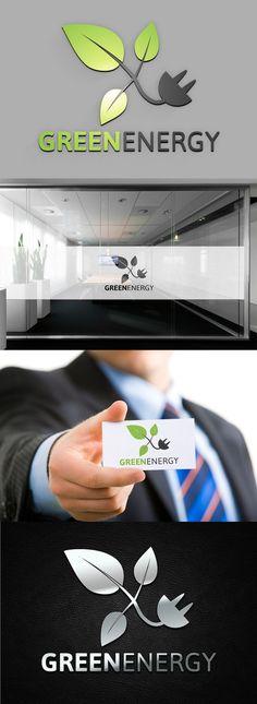 Green Energy Logo Clover Logo, Elegant Business Cards, Pinch Pots, Editorial Design, Logo Templates, Background Images, Photoshop, Layout, Green