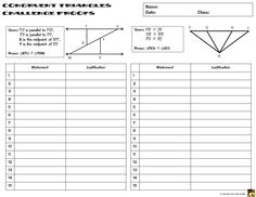 Printables Two Column Proof Worksheet circles proofs two column proof practice and quiz congruent triangles this set contains with including sss sas asa aas hl congru