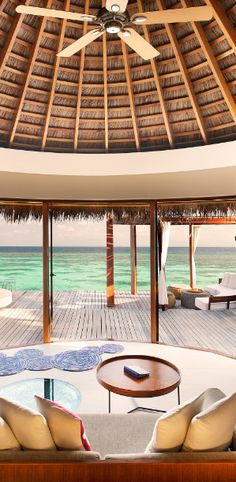 Where the ocean is the room art. #Maldives