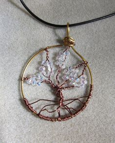 Tree of Life Clear cystals gold nontarnish by watercolorsNmore, $25.00