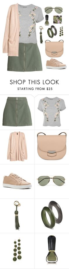 """""""Untitled #2204"""" by ebramos ❤ liked on Polyvore featuring Topshop, H&M, CÉLINE, Yves Saint Laurent, L'Autre Chose, Shashi, Oribe and Jo Malone"""