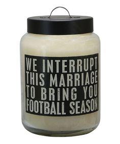 'Football' Jar Candle #zulily #zulilyfinds