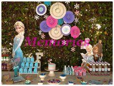 Frozen ! mesa de dulces y postres