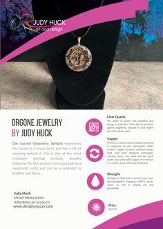 Orgone jewelry by Judy Huck Sacred Geometry Symbols, Affordable Art, Clear Quartz, Framed Art Prints, Jewelry, Design, Jewlery, Jewerly, Schmuck