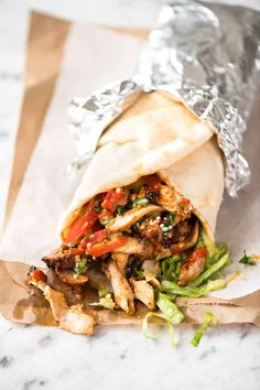 Homemade Chicken Doner Kebab recipe - the better version of the midnight post-pub kebab runs beacuse you know exactly what's in it! Chicken Doner Kebab Recipe, Chicken Recipes, Doner Kebab Recipe Turkish, Donair Meat Recipe, Turkish Chicken Kebab, Lebanese Chicken, Turkish Kebab, Recipe Chicken, Pork Recipes