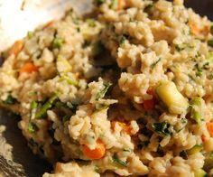 Slow cooker risotto primavera