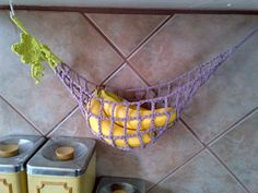 bunchograpes crochet cotton banana hammock fruit by meandmyhook  12 00 crochet fruit and vegetable hammock holder by butterpiecreations      rh   pinterest