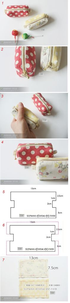 Sewing diy pouch pencil cases 33 Ideas for 2019 Sewing Hacks, Sewing Tutorials, Sewing Patterns, Fabric Crafts, Sewing Crafts, Sewing Projects, Sewing Diy, Pochette Diy, Diy Couture