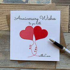 Homemade Anniversary Cards, Anniversary Card For Parents, Anniversary Note, Anniversary Crafts, Anniversary Greeting Cards, Wedding Anniversary Cards, Aniversary Cards, Cricut Anniversary Card, Anniversary Verses