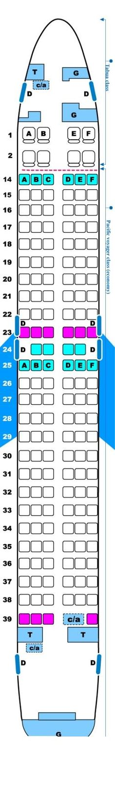 Seat Map Air Pacific Boeing B737 800 - Aircraft Seats