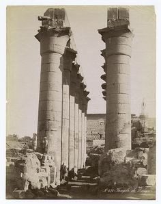 Temple of Luxor. New York Public Library.