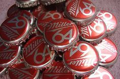 100 lot miller 64 beer #bottle caps #crowns~no #dents! clean!,  View more on the LINK: http://www.zeppy.io/product/gb/2/322380087606/