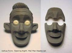 Joshua Flynn: Puppet Head sculpt - Mail Man - STEP 02