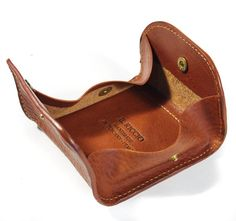 Coin Holder with snaps Italian Vegetable Tanned by TuscanLeather, €37.00