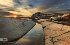Stone pool by ivarhole  color landscape mountain nature norway rocks seascape sky stone water Stone pool ivarhole