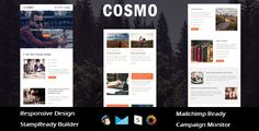Cosmo - Multipurpose Responsive Email Template + Stampready Builder . COSMO is a Multipurpose responsive email template designed for Corporate, Office, Business and general