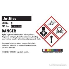 Ju Jitsu - Safety Notice