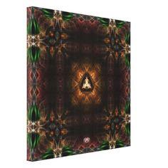 Cube OF Light Kaleidoscope Art Canvas Print $232.95