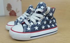 d40e21a60df5 Converse All Star hi tops stars infant canvas shoes trainers size 5 eur 21