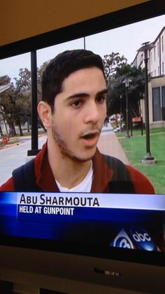 "This guy is hilarious. They asked him to spell his name out. Abu Sharmouta means ""father of a whore"" in arabic ! Lol"