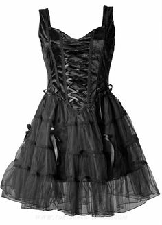 Gothic dress by Sinister, black crushed velvet, skirt with several layers of tulle.