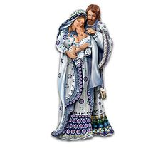 A stunning first-ever Nativity collection capturing the timeless look of traditional Polish Stoneware pottery in elegant handcrafted figurines. China Porcelain, Painted Porcelain, Dramatic Look, Polish Pottery, Silent Night, Timeless Beauty, Stoneware, Blue And White, Black