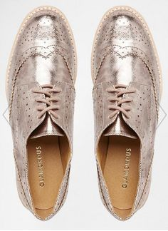 metallic brogues//