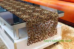 luxury party decorations | ... Luxury Table Runner, Fabric with gold thread for Wedding Decor/ Party