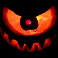 cyclops pumpkin - Google Search Cyclops, Jack O, Halloween 2019, Pumpkin Carving, Lanterns, Scary, Culture, Holidays, Google Search