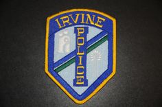 Irvine Police Patch, Orange County, California (Vintage 1975-2005 Issue; Current Honor Guard Issue)
