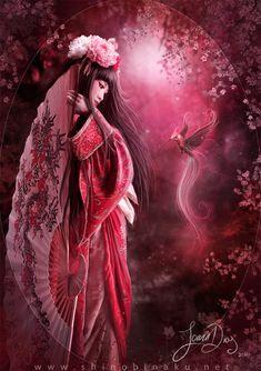 Geisha and Hummingbird