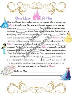 Instant Download  Disney Princess Baby Shower Mad by LindseyRae613