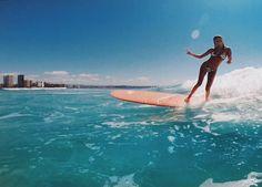 """Hawaii"" Surfboard Beach Bum Wave Rider Ocean Surf Iron On Applique Patch Surfer Girls, Surfing Pictures, Beach Pictures, Beach Pink, Beach Day, Surf Bikini, Bikini Babes, Bikini Girls, Image Tumblr"