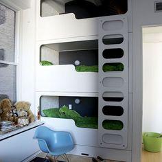 Childs bedroom by VARNISHdesign, via Flickr. Great for triplets