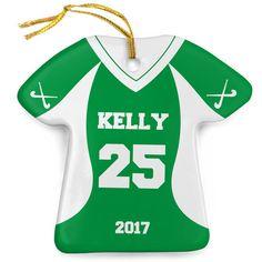 Field Hockey Porcelain Ornament Personalized Jersey