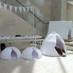 Origanids, espaces éphémères pliables faits main inspirés des origamis - Journal du Design