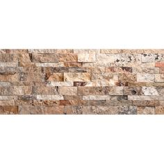 Nebula Travertine Split Face Random Sized Wall Cladding Tile in Mix Rustic by Faber $11/sq ft